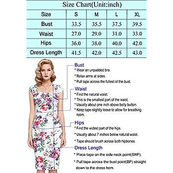 Belle Poque Women 50s Bodycon Dress Slim Vintage Pencil Dress BP106/146