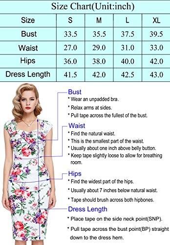 Belle Poque Women 50s Bodycon Dress Slim Vintage Pencil Dress BP106/146 2