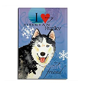 Siberian Husky Rectangle Magnet by CafePress