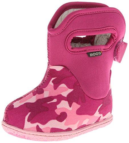 Baby Bogs Classic Camo Waterproof Winter & Rain Boot (Toddler),Pink Multi,4 M Us Toddler