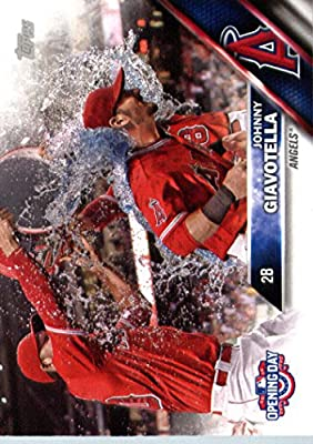 2016 Topps Opening Day #OD-123 Johnny Giavotella Los Angeles Angels Baseball Card-MINT