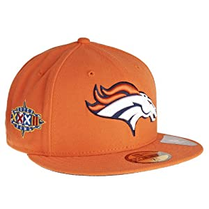 New Era Denver Broncos Super Bowl XXXII Side Patcher 59FIFTY Fitted Hat Orange by New Era