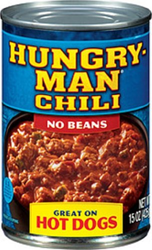 Hungry-Man Chili No Beans, 15-Ounce (Pack of 12)