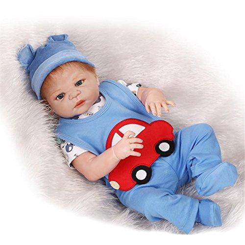 [Fan Moon Full Body Soft Silicone Baby Doll Red Car Bib 23-Inch] (Toddler Annie Costumes)