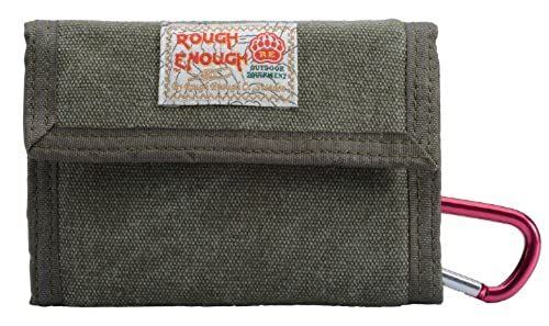06. Rough Enough ® Canvas Classic Casual Wallet Purse (Army Green)