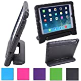 HDE Kids Light Weight Shock Proof Handle Case for iPad 2/3/4/mini (iPad 2/3/4, Black)