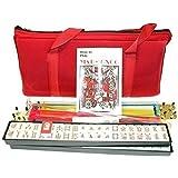 4 Pushers + Brand New Complete American Mahjong Set in Burgundy Bag , 166 Tiles(mah Jong Mah Jongg Mahjongg)