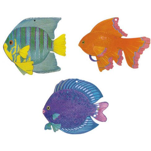 Tropical Fish Cutout (1 ct) Paper (1 per package)