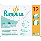 Pampers Sensitive Lingettes bébé - Lot de 12 Paquets soit 672