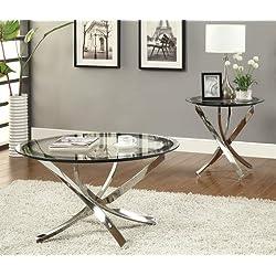 Coaster Home Furnishings 702588 Contemporary Coffee Table, Chrome