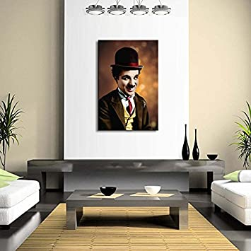 Buy Wall Decals HD Quality Charlie Chaplin Wall Posters CANVAS M - Wall decals hd