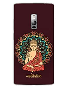 MiiCreations 3D Printed Back Cover for One Plus Two,Lord Buddha Meditation