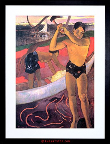 PAINTING GAUGUIN MAN WITH AXE