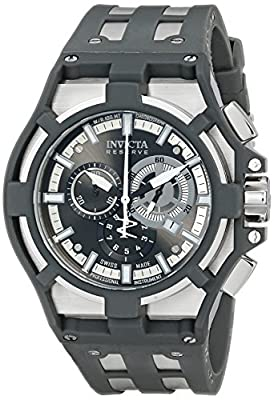 "Invicta Men's 0631SYB ""Akula"" Stainless Steel Watch with Black Silicone Band"