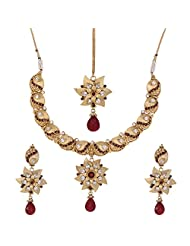 Shahenaz Jewellers 24 Ct Gold Plated Bridal Jewellery Set For Women - B00R2IOVGW