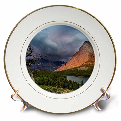 Danita Delimont - Glacier National Park - Grinnell Point over lake in Glacier National Park, Montana - 8 inch Porcelain Plate (cp_231096_1)