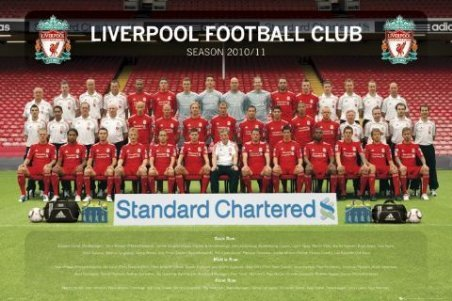 LAMINATED Liverpool FC Team Photo Maxi Poster 91.5cm x 61cm The Squad Ready For Battle In The 2010/2011 Season