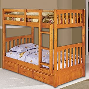 Discovery World Furniture Honey Bunk Bed Twin