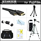 """Starter Accessories Kit For The Fuji Fujifilm X-S1, XS1, X100S Digital Camera Includes Deluxe Carrying Case + 50"""" Tripod With Case + Mini HDMI Cable + USB 2.0 Card Reader + LCD Screen Protectors + Mini TableTop Tripod + MicroFiber Cleaning Cloth"""