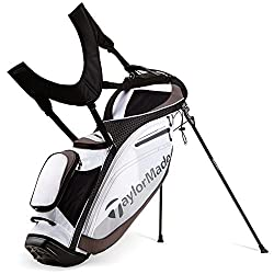 TaylorMade TourLite Stand Bag, White/Black/Charcoal