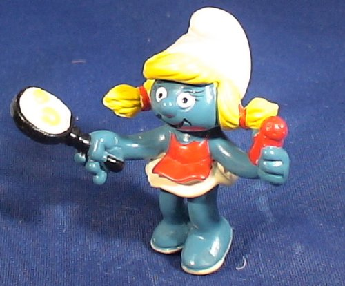 Buy Low Price Schleich The Smurfs Vintage Smurfette with Frying Pan Pvc Figure (B002R67AQC)