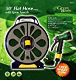 Green Blade BB-HP110 50ft Flat Hose with Spray Nozzle
