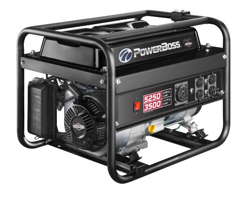 Powerboss 30629 3500-Watt Gas Powered Portable Generator With 900 Powerbuilt Ohv 196Cc Engine And Low Oil Shutdown