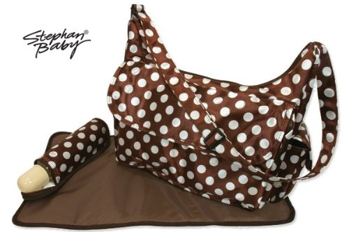 Stephan Baby Brown Dots Diaper Bag
