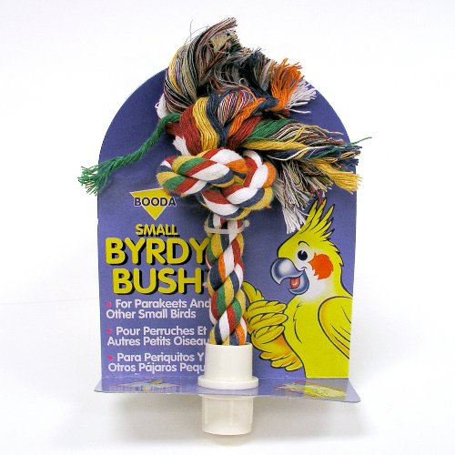 Booda Byrdy Bush Interactive Bird Toy, Colors Vary, Small