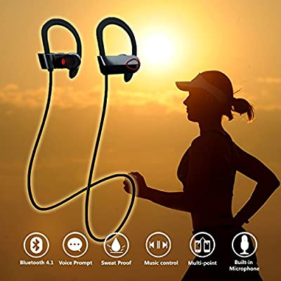 Bluetooth Headphones BES T-1 Pulsar Wireless Headset, IPX7 Waterproof, Premium Bluetooth V4.1 Provides Amazing Sound Quality, Sports Stereo Earbuds with Microphone, Ergonomic Design for a Comfortable Secure Fit for iPhone and Android