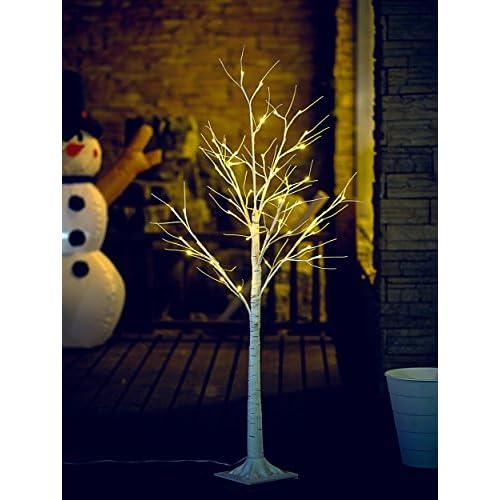 Fashionlite 4FT 48 LED Light Winter Birch Decorative Tree