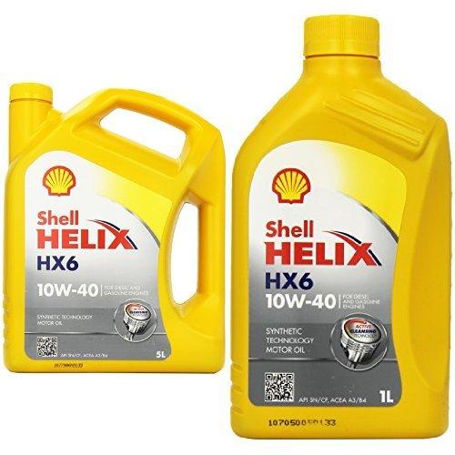 shell helix hx6 10w 40 5 l preisvergleich motor l g nstig kaufen bei. Black Bedroom Furniture Sets. Home Design Ideas