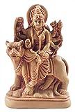 DollsofIndia Goddess Bhagawati - stone Dust Statue - 4 x 2.75 x 1 inches