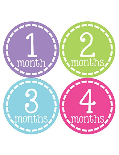 Months in Motion 345 Monthly Baby Stickers Milestone Age Sticker Photo Prop