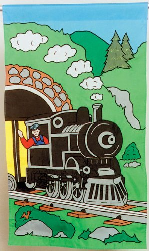Train Appliqued Flag 28