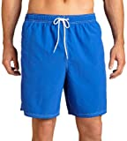 Nautica Men's Anchor Solid Bright Cobalt Swimwear Trunks Shorts