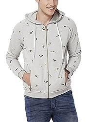 Chumbak Men's Cotton Sweatshirt (8904218038898_CTS074 L_Large_Grey)