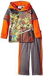 Teenage Mutant Ninja Turtles Toddler Boys\' 2pc Hoodie and Pant Set, Orange, 2T