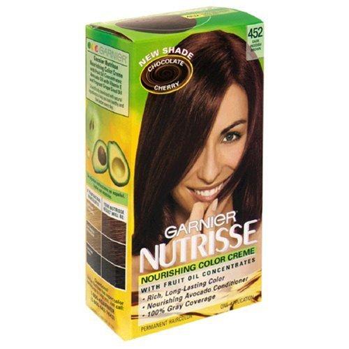 Garnier Nutrisse Permanent Creme Haircolor #452 Chocolate Cherry (Dark Reddish Brown) by Garnier