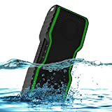 AOMAIS Sport II Portable Wireless Bluetooth Speakers with Waterproof IPX7 Floating,20W Bass Sound,Stereo Pairing,Durable Design for iPhone 7/iPod/iPad/Phones/Tablet/Laptop(Green)