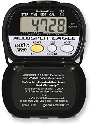 Accusplit Ae190xlg Goal Setting Pedometer from Accusplit