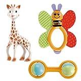 Vulli 200161 - Set de 3 juguetes para reci�n nacido, dise�o Sophie la jirafa