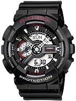Casio - GA-110-1AER - G-Shock - Montre Homme - Quartz Analogique - Digital - Cadran Noir - Bracelet Résine Noir