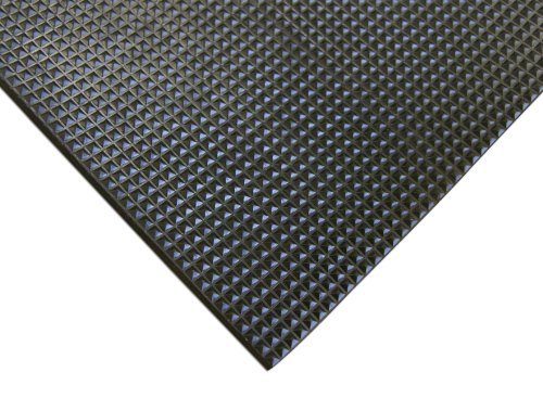 Rubber-Cal Super-Grip Scraper, A Non-Slip Traction Mat - 5mm Thick x 4ft x 4ft Rubber Mats
