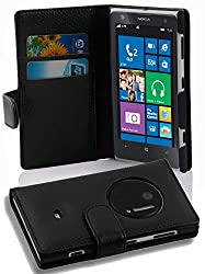 PU Leather pattern Cover in Book Style for Nokia Lumia 1020 in black