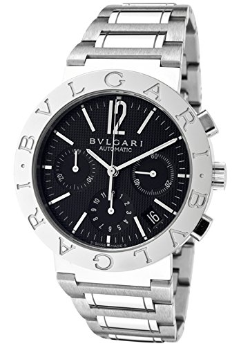 Men's Bulgari Bulgari Mechanical/Automatic Chronograph Black Dial Stainless Steel