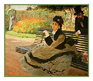 Camille Monet Garden Bench By Claude Monet