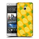 Head Case Designs Piña Pineapple Patterns Protective Snap-on Hard Back Case Cover for HTC One mini