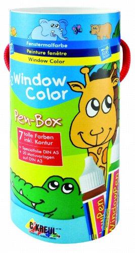 hobby-line-41154-set-di-colori-per-decorare-finestre-tema-animali-mod-c2