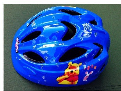 Young children biking / skating / ice skating helmets, child safety protection helmet stroller helmet blue